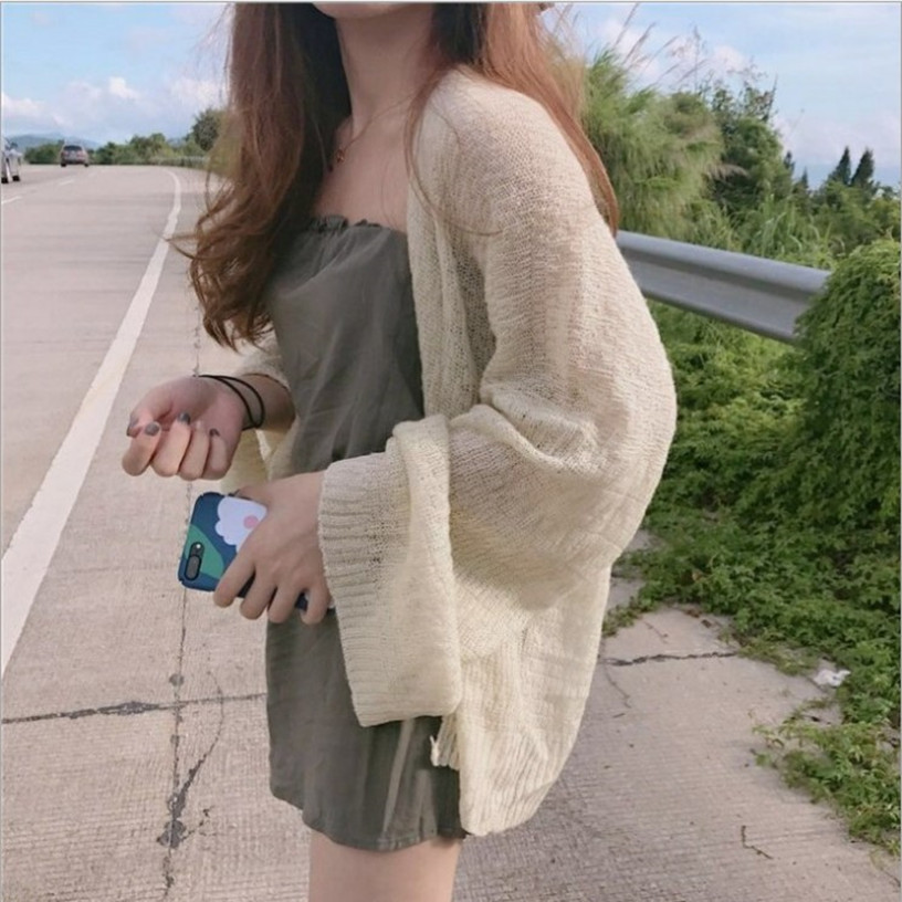 Kaguster Knitted Cardigan Women Plus Size Summer Cardigan Sweater Women Loose Hollow Coat Kardigan Sweter Cardigans Korean Top
