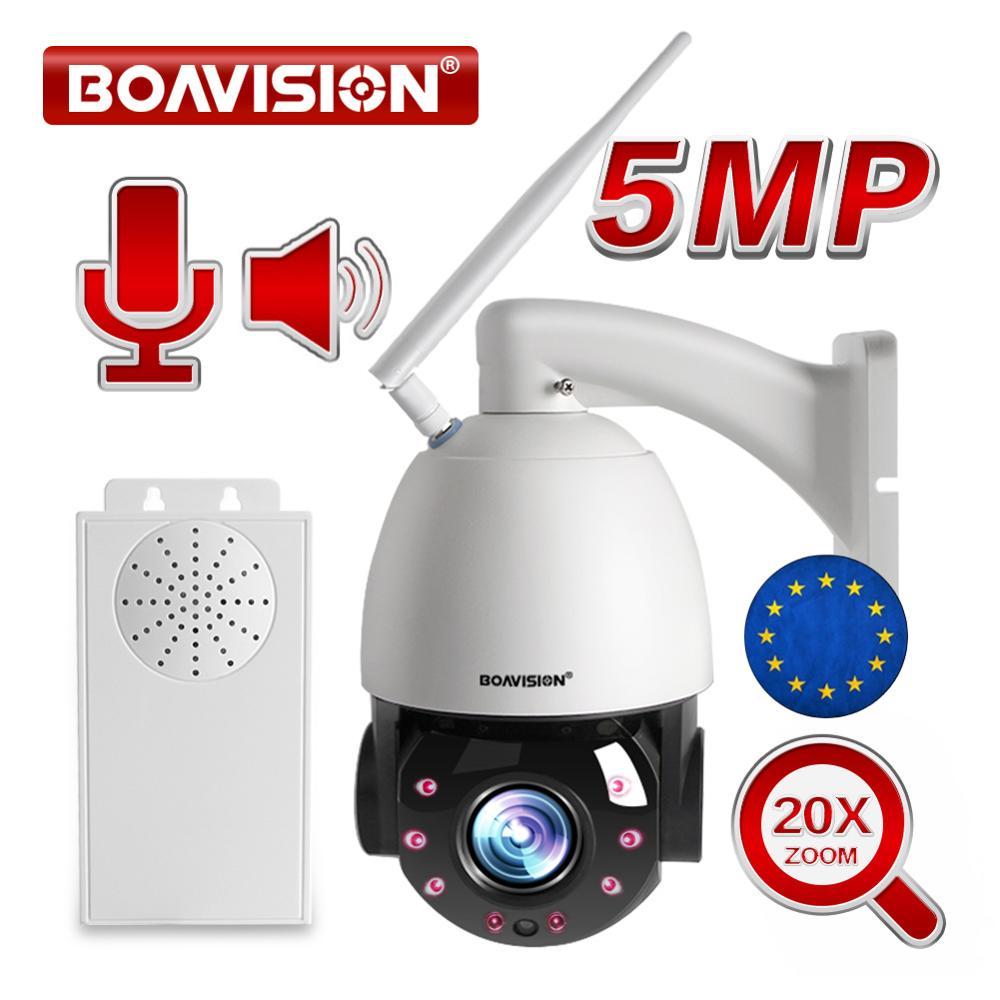 1080P 5MP Беспроводная PTZ купольная IP камера WIFI CCTV камера наружная 20X оптическая зум двухсторонняя аудио ИК 80 м камера ночного видения