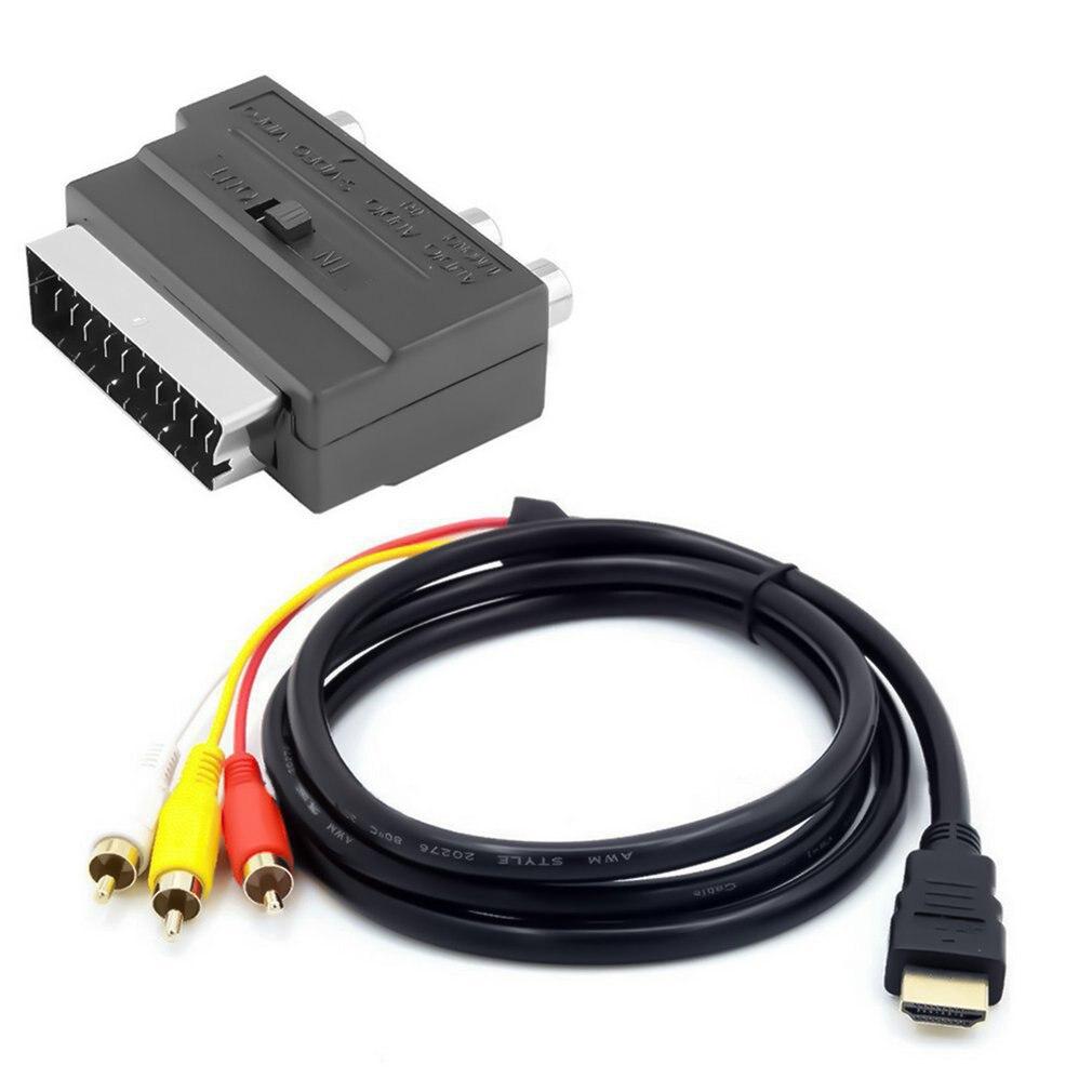 HDMI-совместимый с 3Rca Scart кабель «Два в одном» Ad Ter 1,5 м HDMI-совместимый «папа» S-видео на 3 Rca Av аудио кабель 3