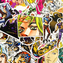 50 pièces/ensemble Anime JoJo Bizarre aventure autocollants Cosplay accessoires accessoire PVC étanche dessin animé autocollant