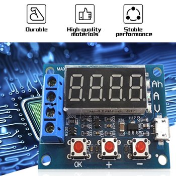 Power Battery Capacity Tester Module LED Digital Li-ion Lithium 18650 External Load Battery Discharge Testing Analyzer Micro USB color app battery tester electronic load 18650 capacity monitor indicator discharge charge usb meter dc 12v power supply checker