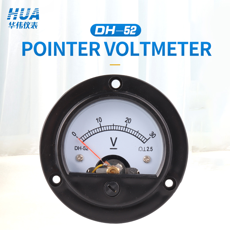 SO-52/DH-52 DC Anlog Voltmeter 1V2V3V5V10V15V20V30V50V100V150V200V250V300V450V500V Voltage Panel Meter,factory Direct Sales.