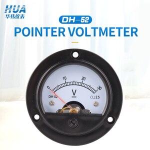 SO-52/DH-52 DC Anlog Voltmeter 1V2V3V5V10V15V20V30V50V100V150V200V250V300V450V500V voltage panel meter,factory direct sales.