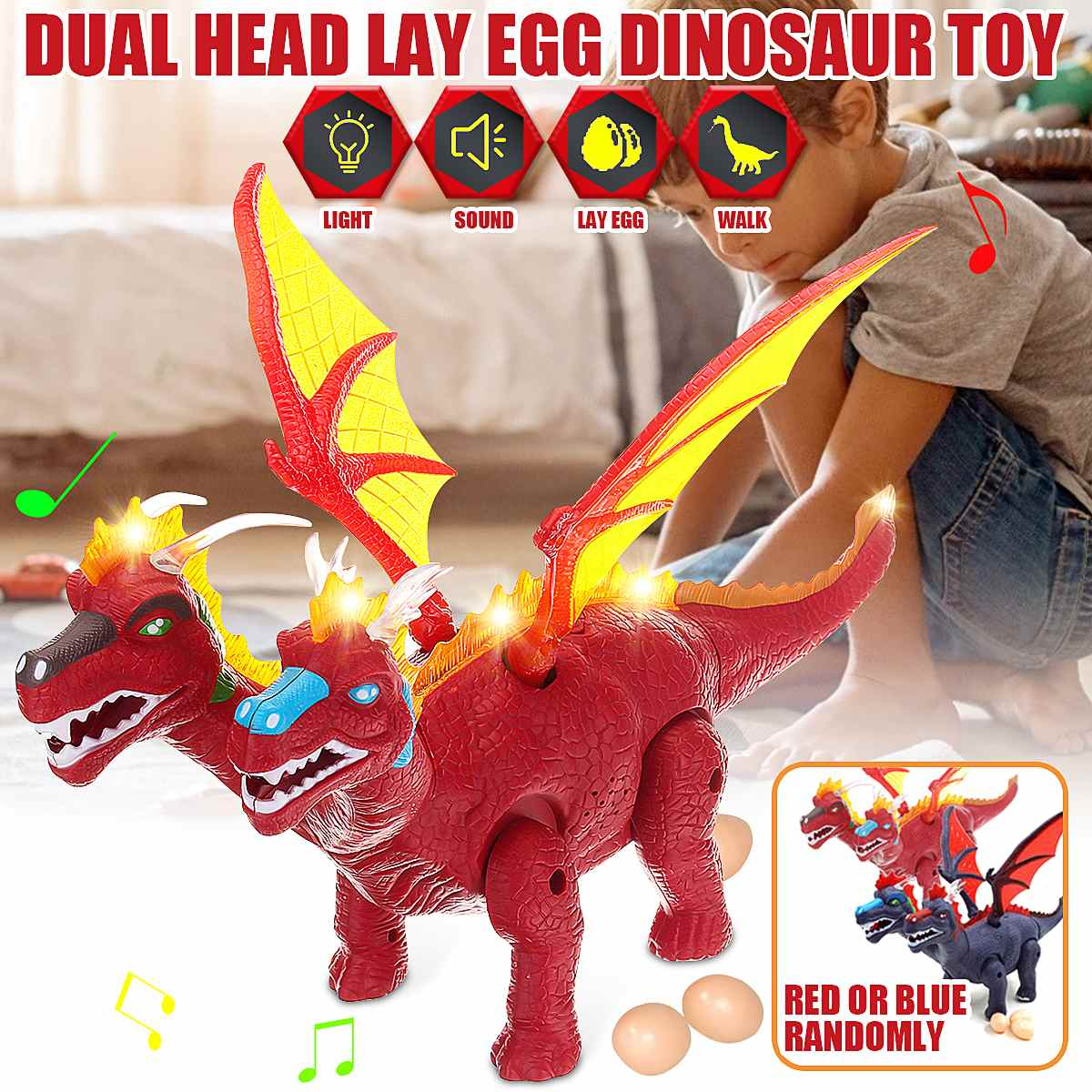Flying Dinosaur Toy Electric Real Sounds/Walk/Roar/Lay Eggs /Colorful Lighting Children Day Birthday Christmas Presents For Kids