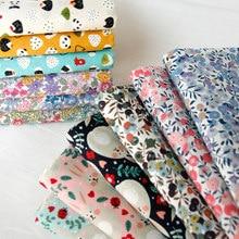 Coupons de tissu en coton pastoral 145x50cm pour usage domestique, fournitures à motifs floraux pour travail textile DIY, de 160 à 180 g/m, confection de vêtements pour enfants ou de literie décorative