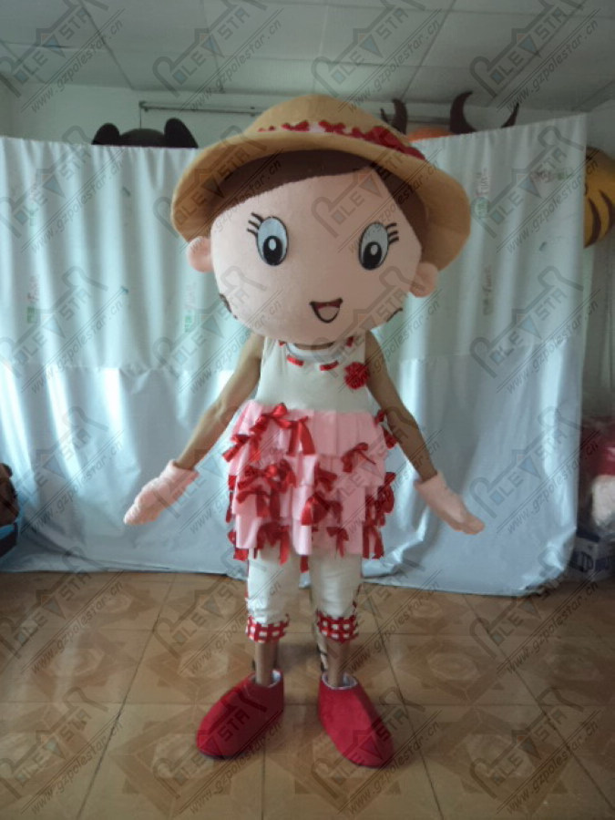 custom brown skin boys and girls mascot costumes happy kids party costumes