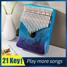Cega – Kalimba à 21 touches en bois d'acajou, piano à pouce, instrument musical à 17, 21 ou 30 touches
