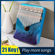 Thumb-Piano Key-Instruments Mahogany Mbira Kalimba Wooden Musical Cega 17-Key 30