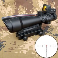 5X35 ACOG Hunting Riflescope BDC Chevron Horseshoe Reticle Optical Sights with Red Dot for Tactical Rifle cal .223 .308