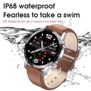 "Image 3 - חדש L13 חכם שעון גברים IP68 עמיד למים אק""ג PPG Bluetooth שיחת לחץ דם קצב לב כושר גשש ספורט Smartwatch"
