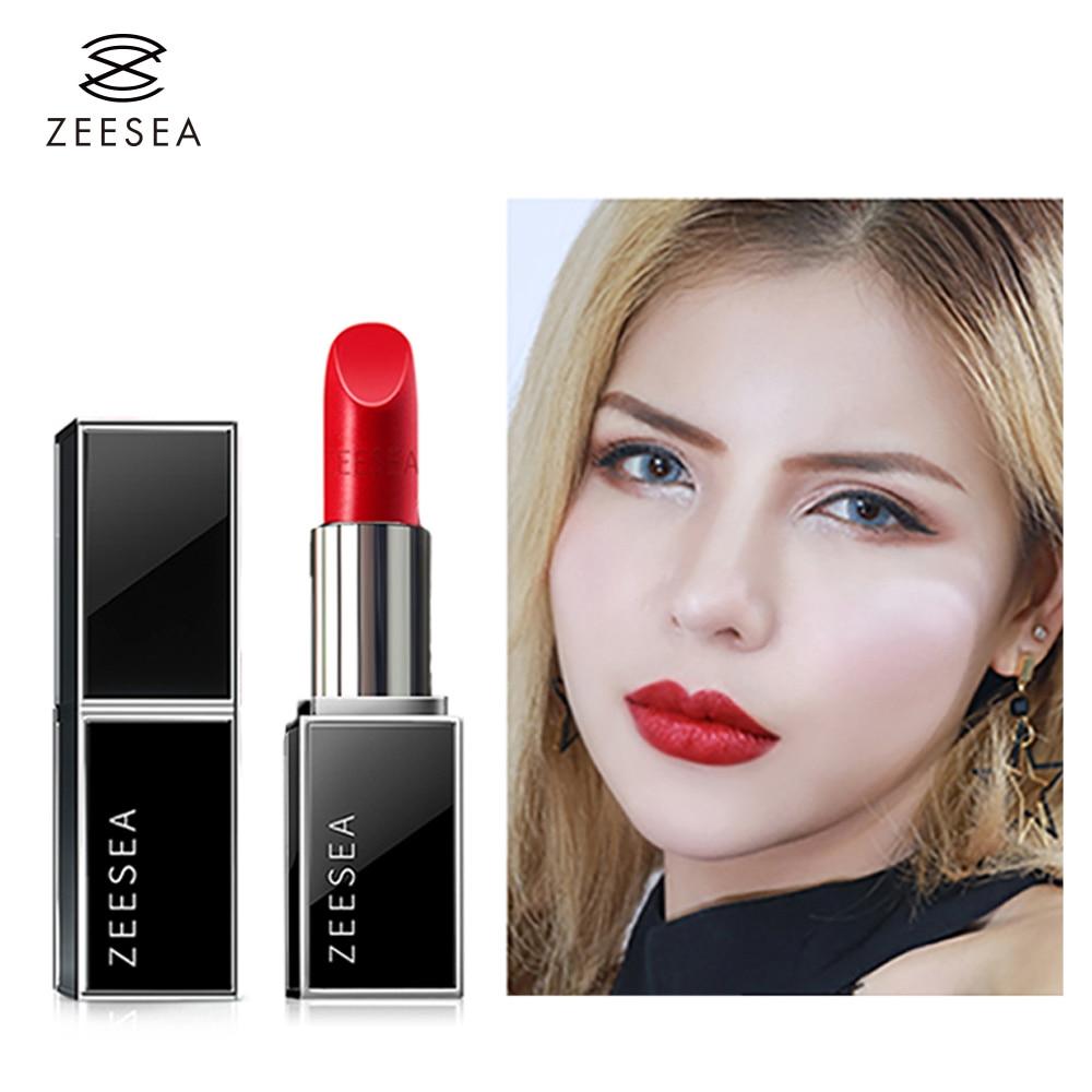 Zeesea Nutrir Batom Matte Vermelho Set Make-Up Para As Mulheres Fáceis de Cor Duradoura À Prova D' Água Lip Gloss Cosméticos Beleza maquiagem 3.8g