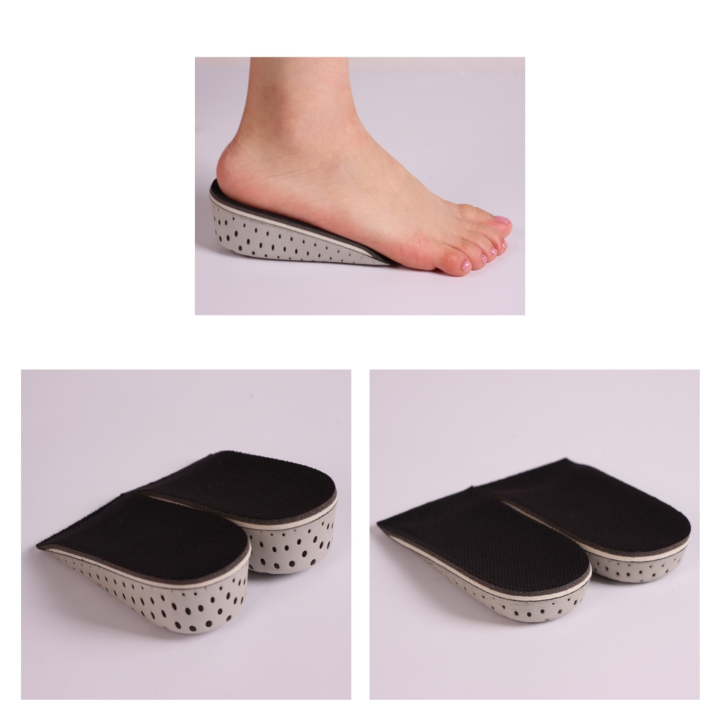 2 Pairs Heel Pads Insoles Height-Increasing Growing Lift Invisible Shoes Insertion Cushions For All Shoes
