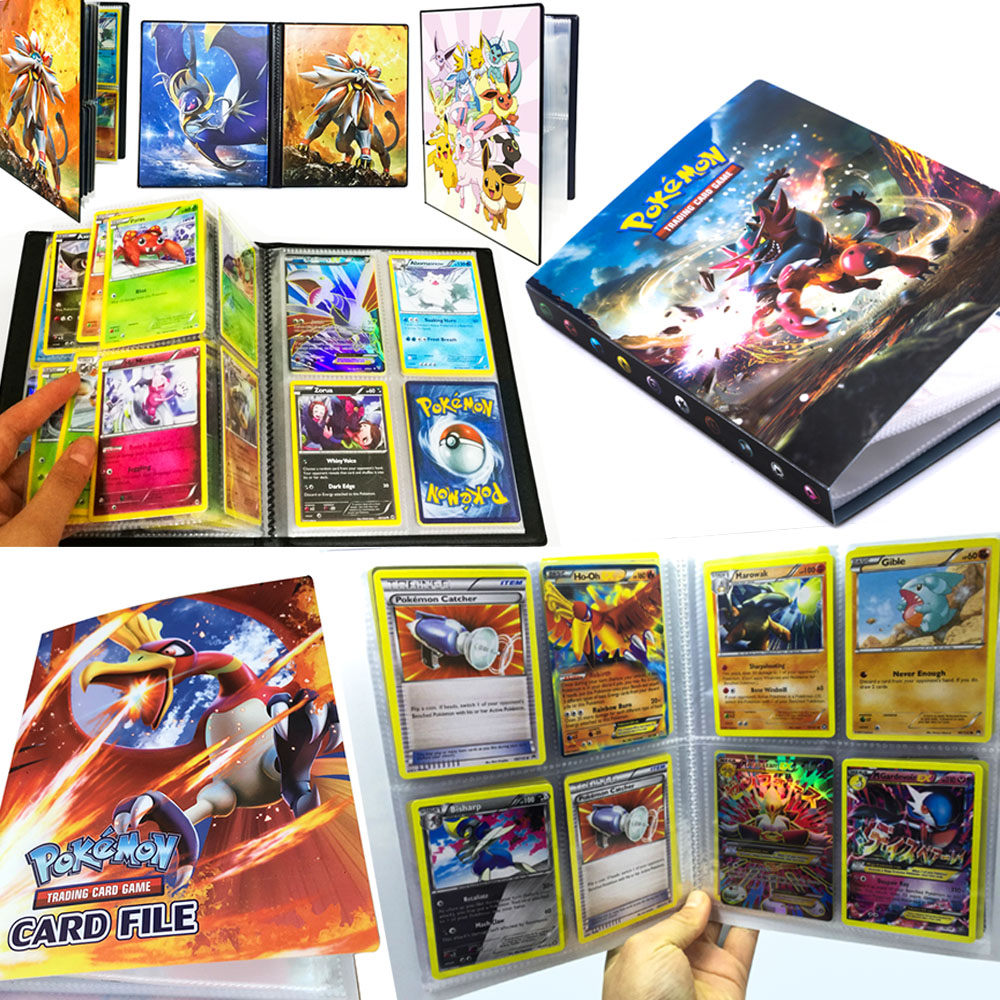 takara-font-b-pokemon-b-font-card-album-112-240-cards-pikachu-table-board-deck-game-toys-ptcg-accessories-cards-collection-book-children