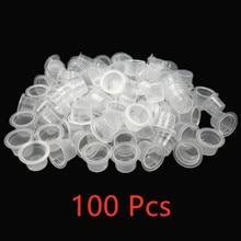 Gobelets à encre de tatouage à Microblading en plastique, 100 pièces, contenant transparent pour Pigment maquillage Permanent, accessoire de tatouage