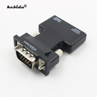 Kebidu-Adaptador convertidor VGA 1080P HDMI, compatible con Cables de Audio hembra a macho para PS3 Monitor HDTV proyector PC