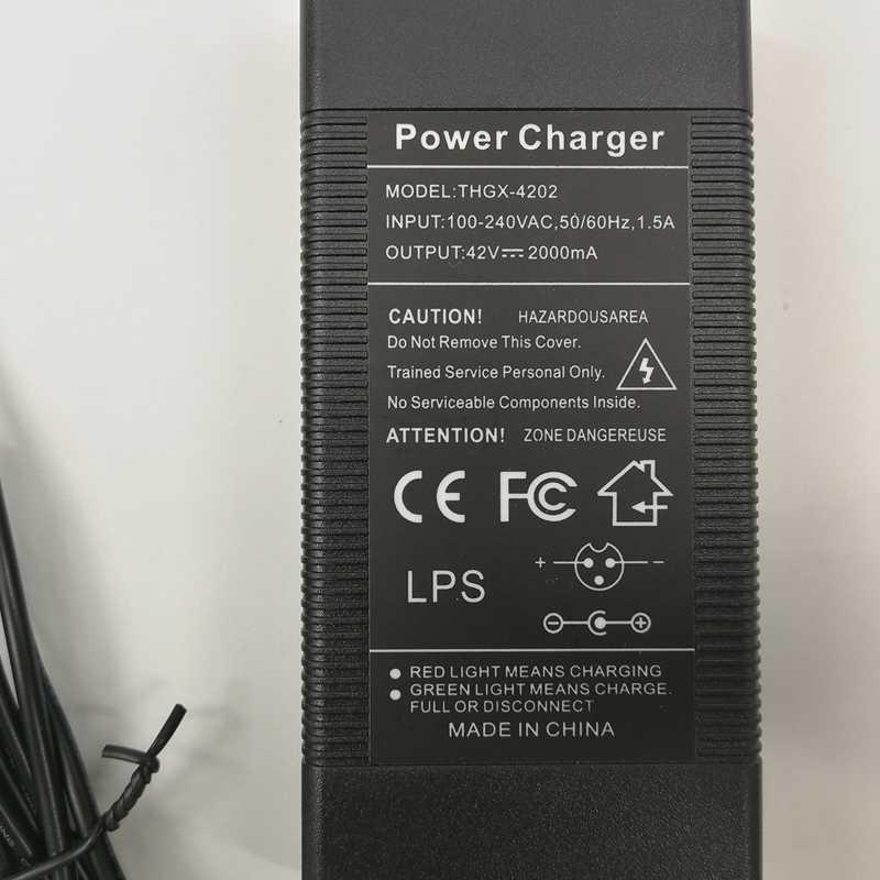 Carregador para kugoo s1 scooter elétrico 42 v 1.5ah carregador de bateria (plugue da ue)