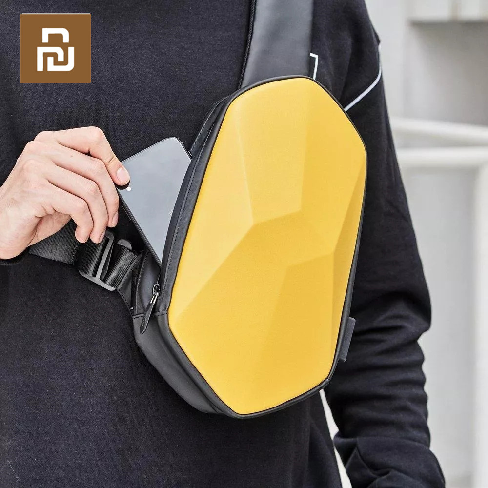 Youpin Tajezzo Beaborn PU Backpack USB Bag Waterproof Colorful Leisure Sports Chest Pack Bags For Mens Women Travel Camping