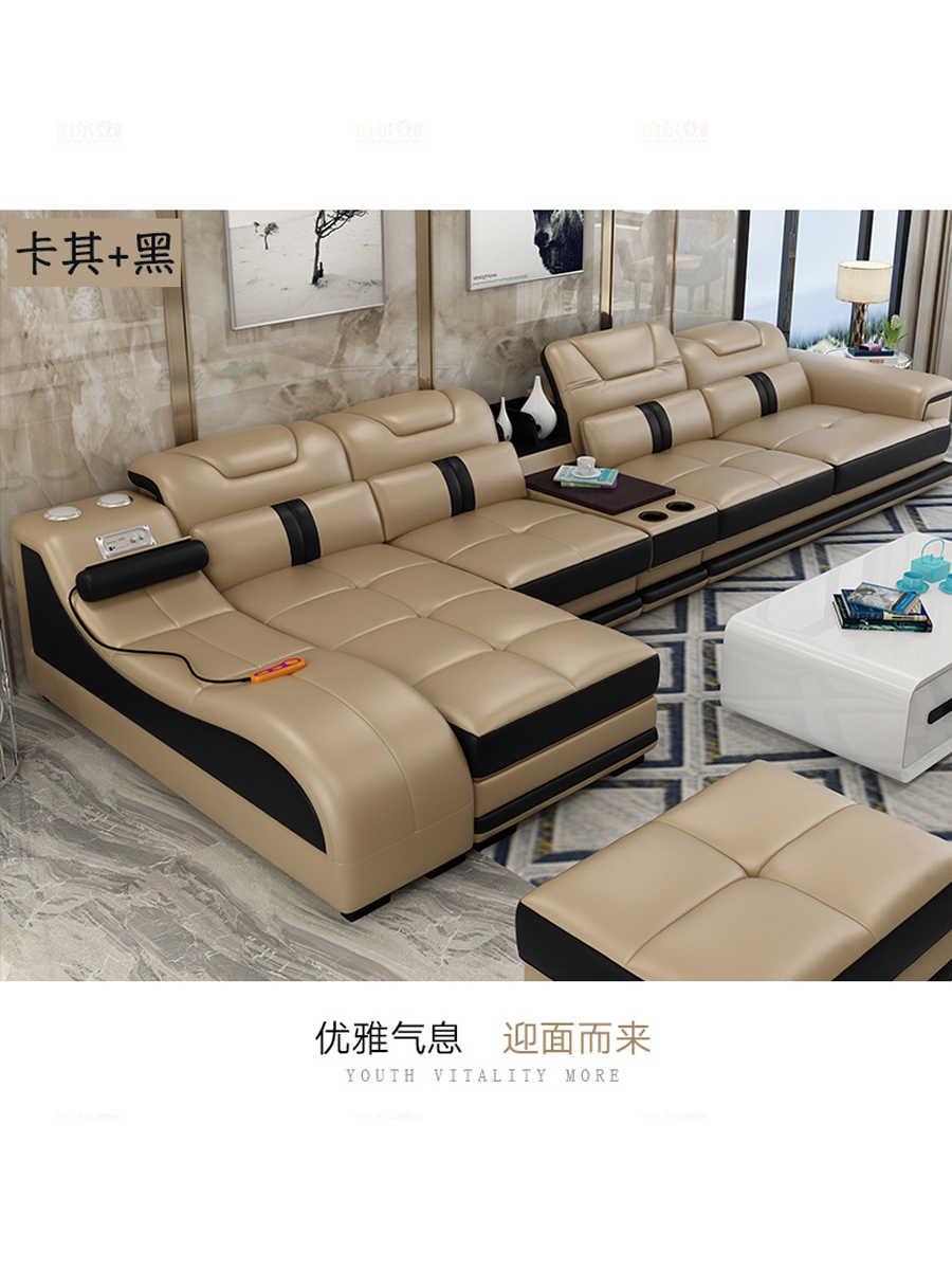 Living Room Sofa Set Divan Mebel Krovat Muebles De Sala L Shape Massage Real Genuine Leather Sofa Cama Puff Asiento Sala Futon Living Room Sofas Aliexpress