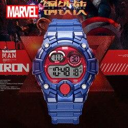 Disney Marvel spider homme montre étanche homme montre de sport tendance personnalité montre numérique enfants montre 10Bar calendrier complet