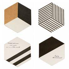 Скандинавский стиль, английская Геометрическая серия, пробковый горшок, утепление ковриками, простые ветровые коврики, подставки