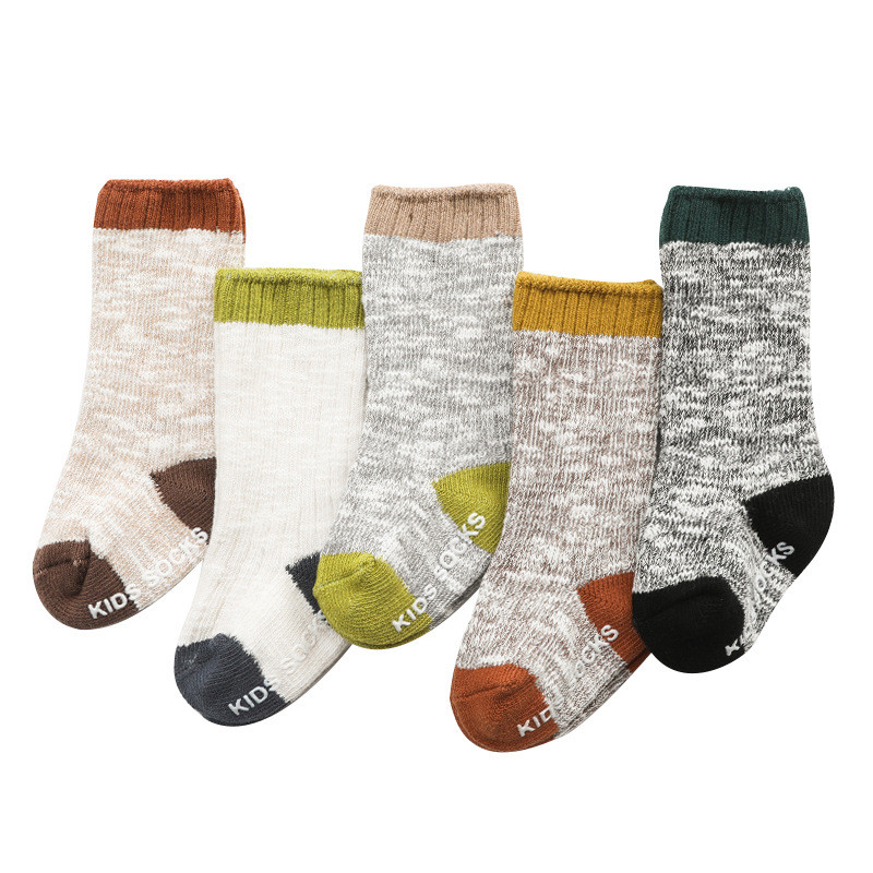 Winter Baby Socks Knitted Thick Warm Socks For Girls Anti Slip Knee Baby Boy Socks Casual Winter Leg Warmers Suitable For 0-8T