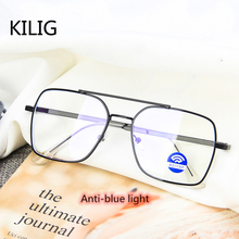 KILIG Blue Light Double Beam Metal Sunglasses