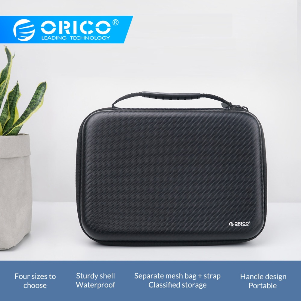 ORICO Portable Travel Zipper USB Cable Bag Organizer EVA Phone Charger Case For Electronic Accessories Hard Drive Storage Bag