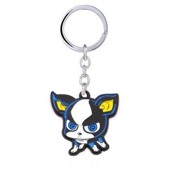 Anime JOJOS BIZARRE ADVENTURE Keychain Enamel IGGY Dogs Key Chain Metal Key Ring Women Bag Pendant Jewelry llaveros trinket