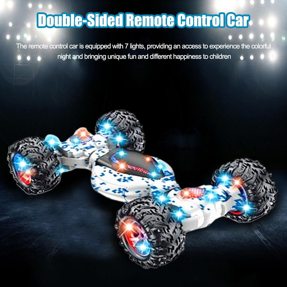 Remote Control Stunt Car Gesture Sensing Twisting Off-Road Vehicle Light Music Drift Dancing Double Side Driving Toy For Kids