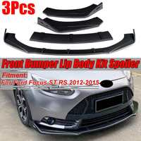 Universal Car Front Bumper Splitter Lip Spoiler Diffuser For Ford For Mustang For Focus RS ST 2012 2015 For BMW For Audi For VW