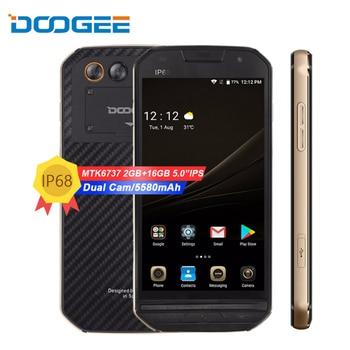 "DOOGEE S30 4G LTE Mobile Phone 5.0 ""Octa Core 2GB di RAM 16GB di ROM Android 7.0 5580mAh Doppia fotocamera IP68 Impermeabile Impronte Digitali"