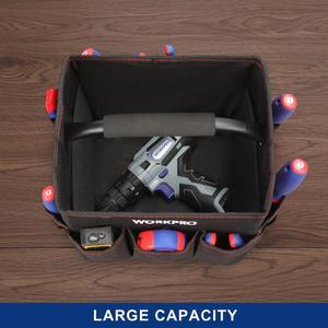 """Image 5 - WORKPRO 10 """"małe narzędzie torba ręczna składane zestawy narzędzi torba na ramię torebka Organizer na narzędzia worek do przechowywania"""