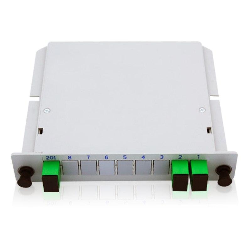 Free Shipping 1x2 SC/APC Splitter Cassette Insertion Type Fiber Optic Splitter PLC 1X2 Splitter Fiber Optical Box FTTH