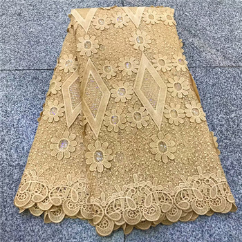 2019 new arrival Beautiful embroidery lace French net mesh tulle lace high quality wedding dresses African lace fabric jyg82-710