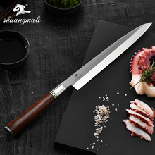 Di Qualità del Hight 10 pollici Coltello da Sushi Giapponese Yanagiba Salmone Coltello Germania 1.4116 In Acciaio Con Dalbergia Maniglia