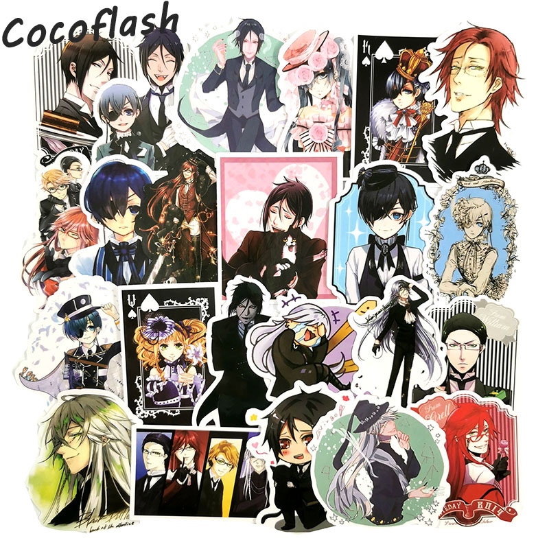 50pcs Japan Anime Black Butler Cartoon Stickers For Luggage Car Laptop Notebook Decal Fridge Toy Skateboard Sticker
