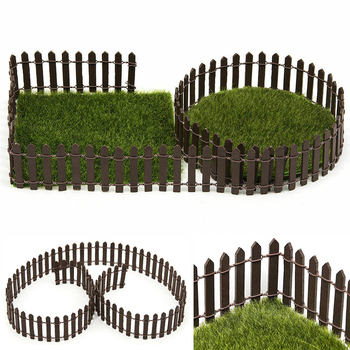 100*5cm/3cm DIY Miniature Mini Fence Fairy Garden Barrier Wooden Craft Room Decor Maison Figurine Home Decoration Accessories 1