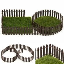 100*5cm/3cm DIY Miniature Mini Fence Fairy Garden Barrier Wooden Craft Room Decor Figurine Home Decoration Accessories