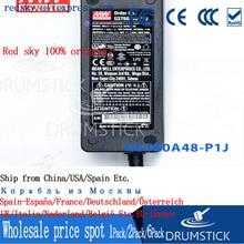 Steady Mean Well GST60A48 P1J 48V 1.25A Meanwell GST60A 48V 60W AC DC Hoge Betrouwbaarheid Industriële Adapter