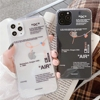 Fashion Tides Brand Sneakers Phone Case For iPhone 12 11 Pro X XR XS MAX 7 8 Plus Simple label letter Sofe Silicone Cover Coque