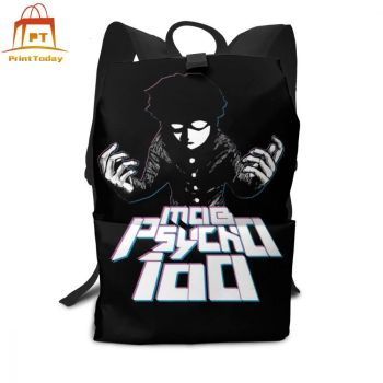 One Punch Man Backpack Mob Psycho Backpacks Multifunction Teenage Bag High quality Man - Woman Pattern Trend Street Bags helen parr backpack helen parr backpacks student high quality bag print trending shopper multifunction bags