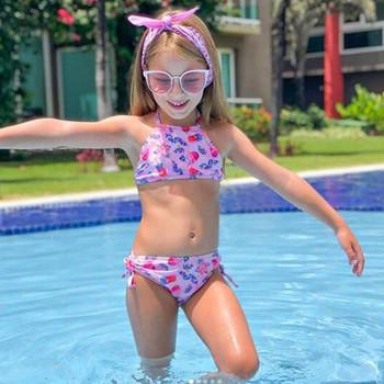 25 #2021 letni maluch dzieci dziewczynek kwiatowy z kokardą z nadrukiem stroje kąpielowe strój kąpielowy Bikini letnie stroje dla dzieci stroje kąpielowe dla dziewczynek 2-7y tanie i dobre opinie CN (pochodzenie) Kobiet 25-36m 3-6y 7-12y COTTON Poliester Pasuje prawda na wymiar weź swój normalny rozmiar Drukuj