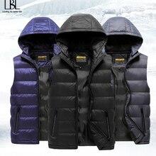 Vest Men Jacket Winter Outerwear Waistcoat Warm Male Men's Casual Sleeveless 5XL Man