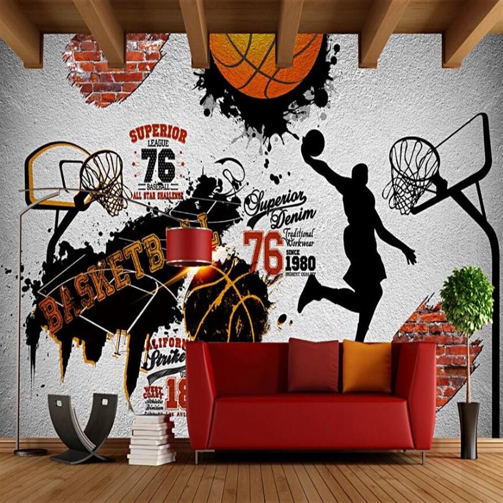 Milofi Manufacturers Custom Retro Nostalgic NBA Basketball Wallpaper Murals