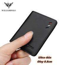 Бумажник williampolo из натуральной кожи для мужчин маленький