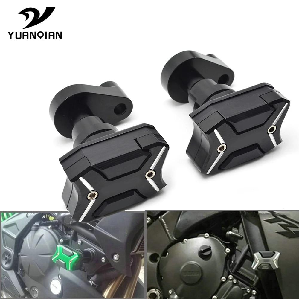 NINJA Versys 250 300 2013-2016 Motorcycle Accessories Z 250 300 Black 2014 2015 Arashi Front Axle Slider Protector Falling Protection for Kawasaki Z250 Z300