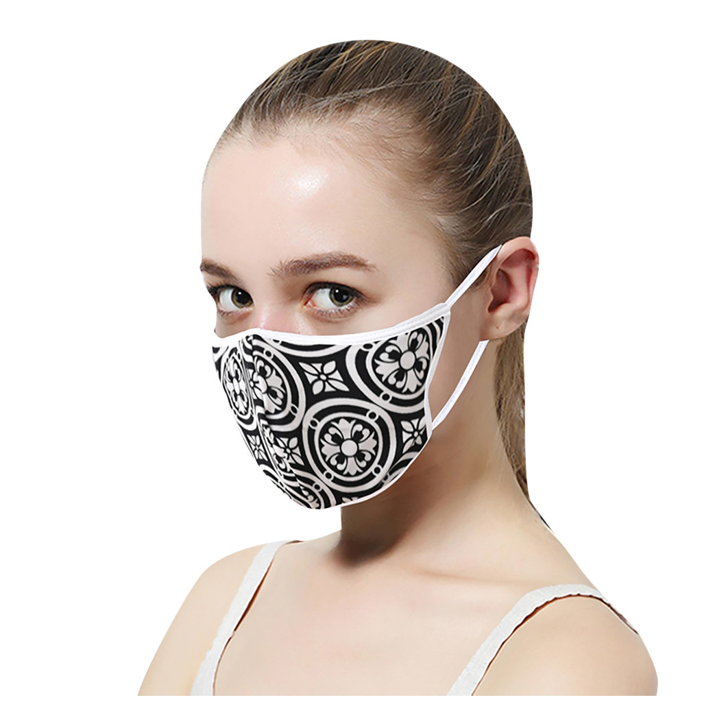 Hda2e9835a6dd4ef6b50f349bd76611b7E In Stock Men Women Adult Outdoor Print Washable Print Breathable Face Cotton Mouth Reusable Earloop Mouth-muffle Health Care
