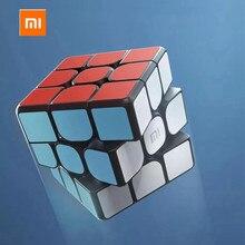 XIAOMI cubo mágico con Bluetooth para niños, juguete educativo con conexión inteligente 3x3x3, cubo magnético cuadrado, rompecabezas para Ciencia