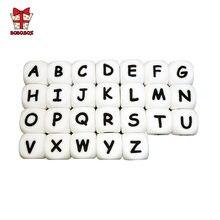 Bobobox 10 шт силиконовые бусины с английским алфавитом буквенный