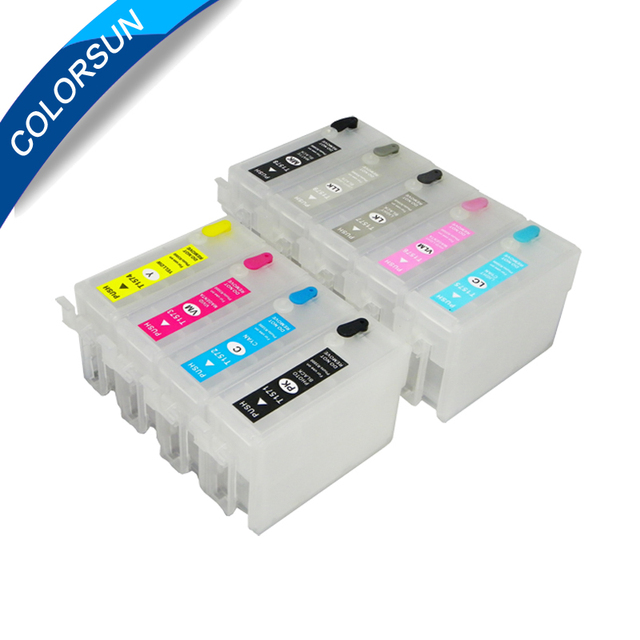 9 colors refillable ink cartridge for Epson Surecolor P600 SC-P600 printer with auto reset chips T7601 - T7609 ink cartridge